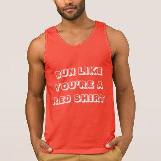 Lauf wie Sie sind ein Rot-Shirt-Sportbehälter Tank Top