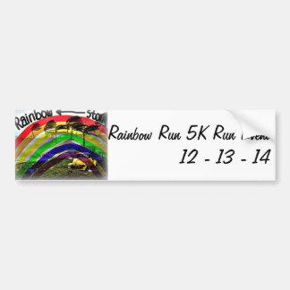 LaufAutoaufkleber des Regenbogen-Lauf5k Autoaufkleber
