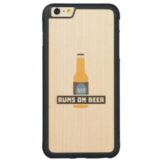 Läufe auf Bier Z7ta2 Carved® Maple iPhone 6 Plus Bumper Hülle