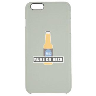 Läufe auf Bier Z7ta2 Durchsichtige iPhone 6 Plus Hülle