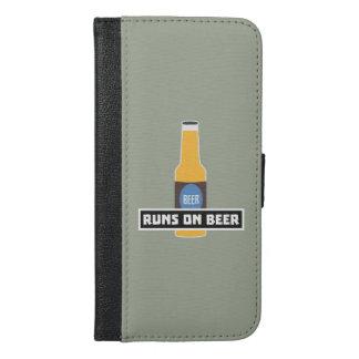 Läufe auf Bier Z7ta2 iPhone 6/6s Plus Geldbeutel Hülle