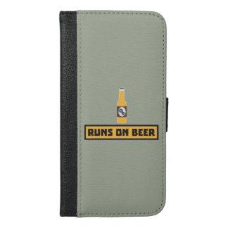 Läufe auf Bier Zmk10 iPhone 6/6s Plus Geldbeutel Hülle