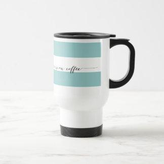 Läufe auf Kaffeereise-Tasse Aqua
