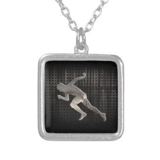 Laufen; Cool Halskette Mit Quadratischem Anhänger