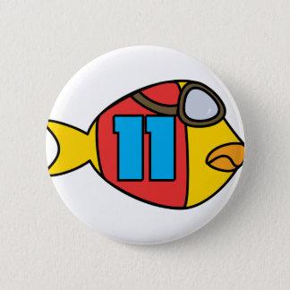 Laufen der Fische Runder Button 5,7 Cm