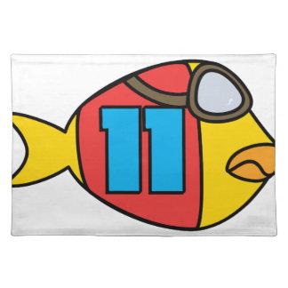 Laufen der Fische Stofftischset