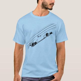 Laufen der Streifen T-Shirt