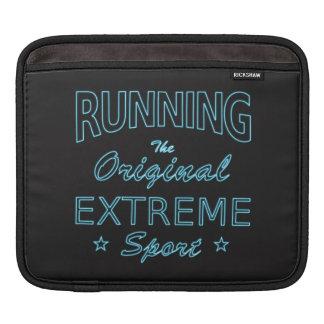 LAUFEN, der ursprüngliche extreme Sport (blaues iPad Sleeve