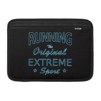 LAUFEN, der ursprüngliche extreme Sport (blaues MacBook Sleeve