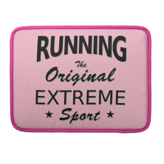 LAUFEN, der ursprüngliche extreme Sport. MacBook Pro Sleeve