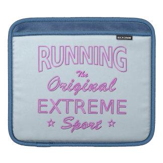 LAUFEN, der ursprüngliche extreme Sport (rosa iPad Sleeve