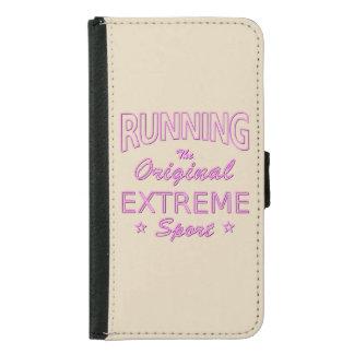 LAUFEN, der ursprüngliche extreme Sport (rosa Samsung Galaxy S5 Geldbeutel Hülle