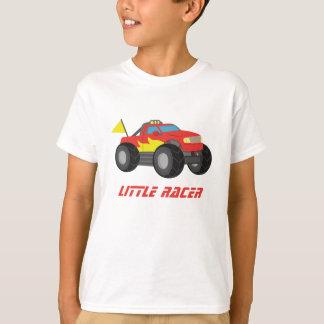 Laufen des roten Monster-LKW-kleinen T-Shirt