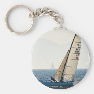Laufen des Segelboots Keychain Schlüsselanhänger