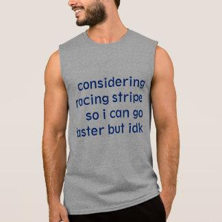 Laufen des Streifens Ärmelloses Shirt