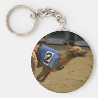 Laufen des Windhunds Keychain Schlüsselanhänger