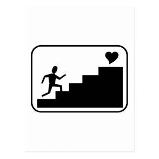 Laufen für Liebe Postkarte
