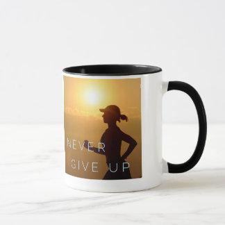 Laufen - geben Sie nie auf Tasse