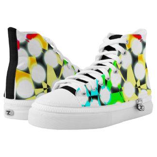 Laufen mit dem Regenbogen Hoch-geschnittene Sneaker