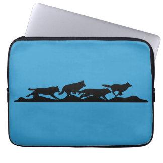 Laufen mit Wölfen Laptopschutzhülle