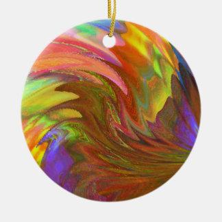 Laufen Sie den Sun Rundes Keramik Ornament