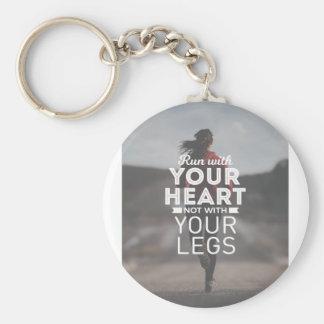 Laufen Sie mit Ihrem Herzen Schlüsselanhänger