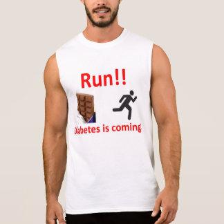 Laufen Sie vom Diabetes-Shirt Ärmelloses Shirt