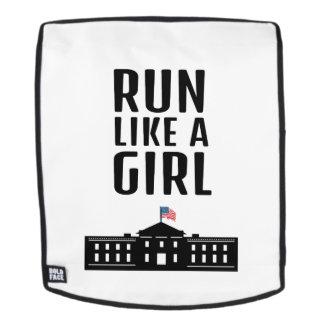 Laufen Sie wie ein Mädchen Hillary Clinton Rucksack