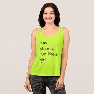 Laufen Sie wie ein Mädchen-Shirt Tank Top