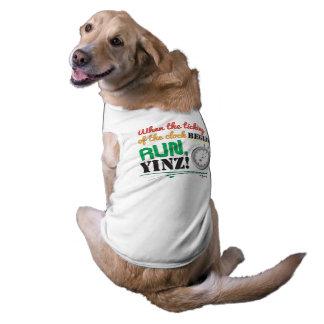 Laufen Sie, Yinz! Marathon-Haustier-Entwurf Shirt