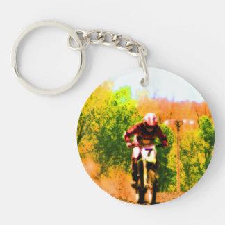 Laufen von Dirtbike Draufgänger Schlüsselanhänger
