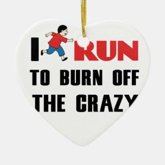 Laufen, zum der Verrücktheit aufzubrauchen Keramik Herz-Ornament