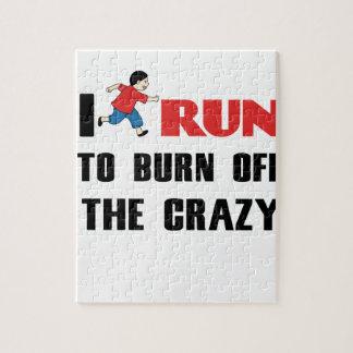 Laufen, zum der Verrücktheit aufzubrauchen Puzzle
