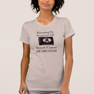 Laufen zur Unterstützung Brustkrebs-Bewusstseins T-Shirt