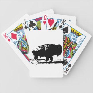Laufende Büffel-Bison-Pop-Kunst Bicycle Spielkarten
