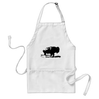 Laufende Büffel-Bison-Pop-Kunst Schürze