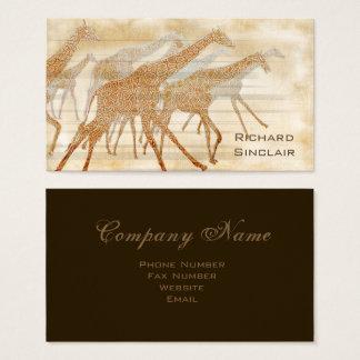 Laufende Giraffen ID141 Visitenkarte