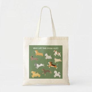 Laufende Hundeillustrierte Taschen-Tasche Tragetasche