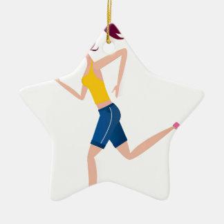 Laufende Mädchenausgabe Keramik Stern-Ornament