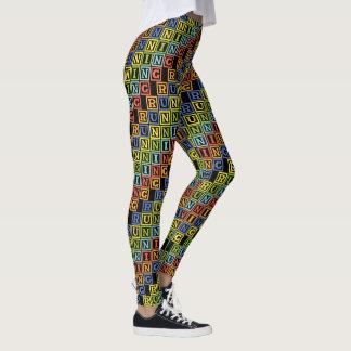 Laufende mehrfarbige Buchstaben cooles athleisure Leggings