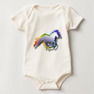 laufende Pferde 3D Baby Strampler