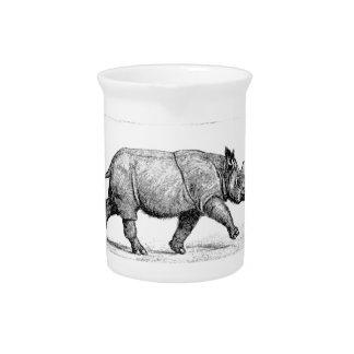Laufende Rhinoskunst Getränke Pitcher