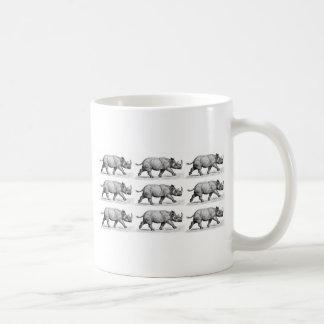 Laufende Rhinoskunst Kaffeetasse