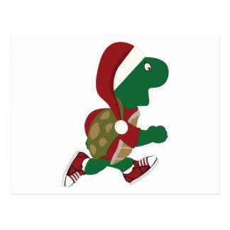 Laufende Schildkröte Sankt Postkarte