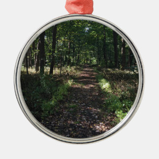 Laufende Spuren sind die besten Spuren Rundes Silberfarbenes Ornament