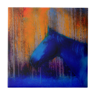Laufende Stallions-u. Baum-Fantasie-Pferdemoderne Fliese