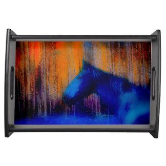 Laufende Stallions-u. Baum-Fantasie-Pferdemoderne Tablett