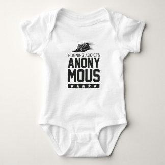 Laufende Süchtige anonym Baby Strampler