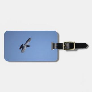 Laufende Tauben-im Flug Gepäckanhänger