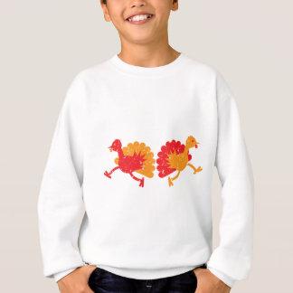 Laufende turkies (beunruhigte raue Version) Sweatshirt